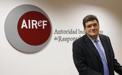 La Airef considera improbable que la Junta cumpla este año el objetivo de déficit del 0,1%
