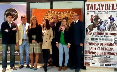 Pablo Hermoso de Mendoza, Andy Cartagena y Guillermo Hermoso de Mendoza, el 28 de abril en Talayuela