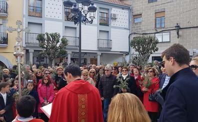 Bendición de ramos, este mediodía en la plaza Mayor de Jaraíz
