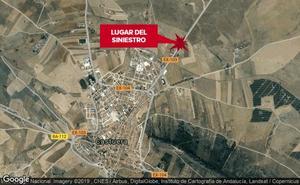 Un atrapado en la colisión de dos turismos cerca de Castuera