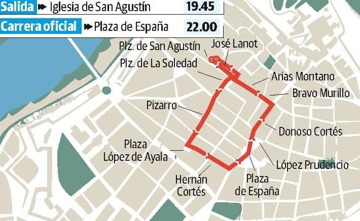 Jueves Santo en Badajoz: procesión del Santísimo Cristo de la Caridad en su sentencia y Nuestra Señora de la Aurora