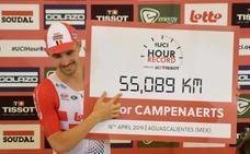 Campenaerts establece un nuevo récord de la hora