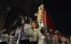 La Merced salió ayer por primera vez en el cortejo del Medinaceli