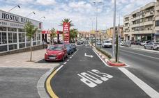 Terminado en Plasencia el nuevo acerado de la avenida de Salanca