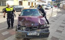 Detenido en Cáceres en una persecución policial tras causar varios accidentes con un coche robado