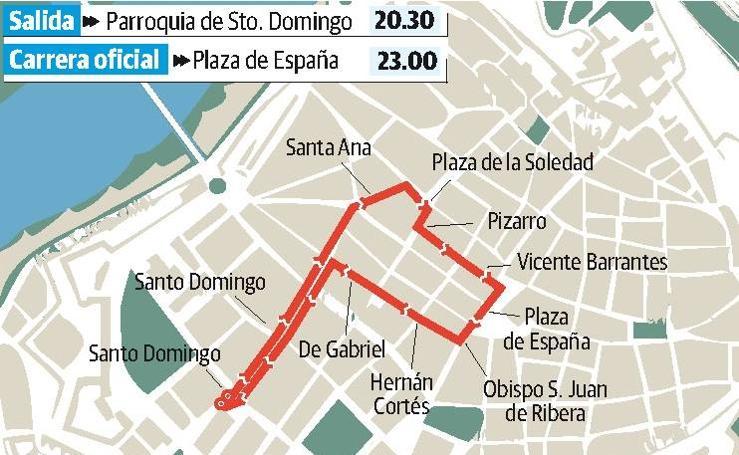 Procesión de Santo Domingo, en el Miércoles Santo pacense