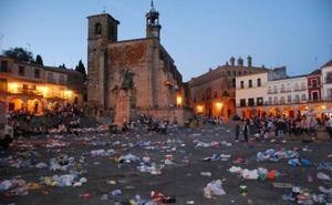 El Ayuntamiento de Trujillo refuerza la limpieza para los días de fiesta