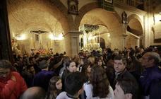 Salida del Cristo de la Preciosa Sangre y suspensión de la procesión de la Esperanza en Cáceres