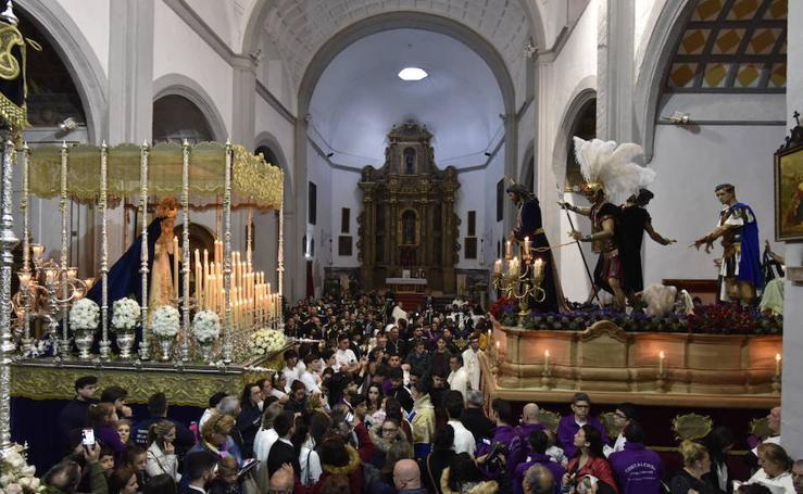 El Cristo de la Caridad en su Sentencia y la Virgen de la Aurora no pudieron salir en procesión ese Jueves Santo en Badajoz