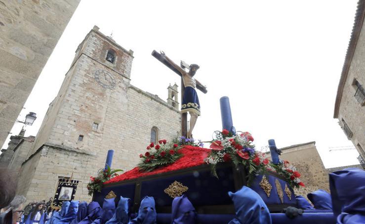 Viernes Santo en Cáceres: Procesión de la cofradía de la Expiración (conocida como hermandad de los Andaluces)