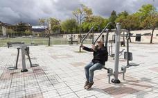Nuevas máquinas para hacer ejercicio al aire libre en La Coronación de Plasencia