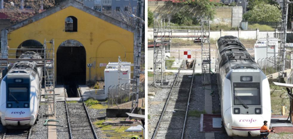 Renfe derriba el antiguo taller en la estación de Badajoz para construir otro nuevo
