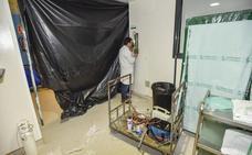 Se inunda una zona en obras del hospital Universitario