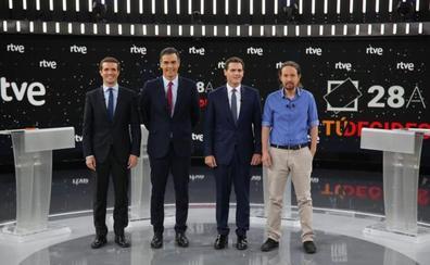 El debate a cuatro de RTVE fue visto por 8,9 millones de espectadores