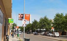 Podemos debe retirar banderolas de las farolas por superar las asignadas en Badajoz