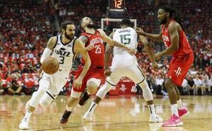 Ricky Rubio se despide de los 'playoffs' tras la derrota de los Jazz ante los Rockets de Harden