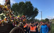 La lluvia respetó la procesión hasta la ermita de San Marcos en Almendralejo
