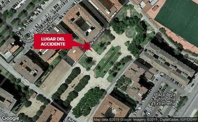 Una joven de 23 años atendida por el incendio de un piso en la calle Alconchel de Badajoz