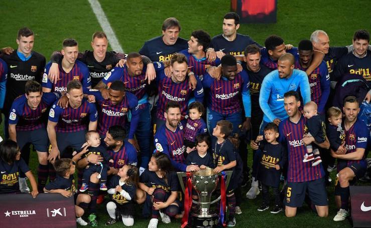 La celebración de la 26ª Liga del Barcelona