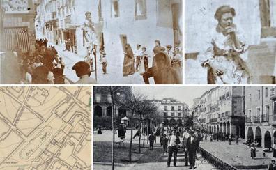 La extraña mujer con zancos que en 1900 se paseaba por Cáceres