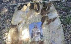 Aparece en el río el estandarte robado de la Virgen de Perales