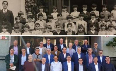 La foto con el profe 50 años después