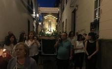 La Esperancita salió en procesión en Zafra acompañada por los Danzantes de Fuentes de León