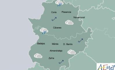 Miércoles con lluvia y temperaturas en descenso