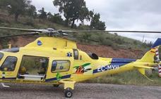 Un camionero es trasladado a Cáceres en helicóptero tras volcar cerca de Puebla de Obando