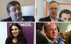 Vara, Polo y De Miguel pegarán carteles este jueves en Mérida, y Monago en Badajoz