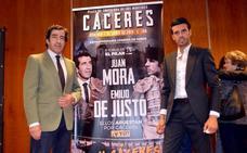 Juan Mora y Emilio de Justo presentan su mano a mano en Cáceres