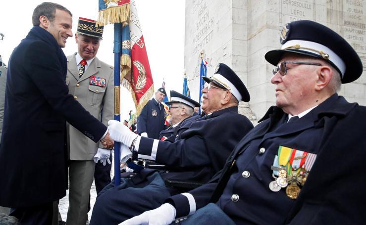 Ceremonia por el aniversario del fin de la II Guerra Mundial