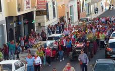 La 'Traída del Santo', que tiene lugar hoy, inicia los actos de la romería de Castuera