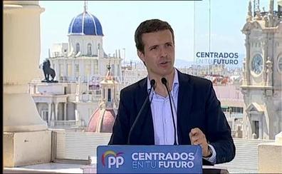 Casado pide «aglutinar esfuerzos» para hacer «contrapeso» y no dar «carta blanca» a Sánchez