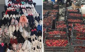 La Policía Local de Badajoz inverviene 1.300 kilos de cerezas en el mercadillo
