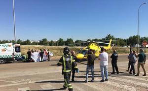 Un trabajador herido grave por una explosión en Almendralejo es ingresado en Getafe