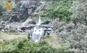 La Guardia Civil rescata en Jerte a un hombre accidentado en la Garganta de los Papúos