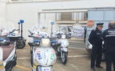 Las ocho motos nuevas de la Policía de Almendralejo siguen sin estrenarse
