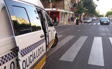Un hombre de 52 años resulta herido en Badajoz al ser golpeada la bicicleta que conducía por un coche