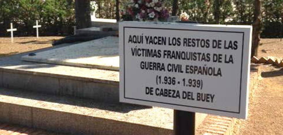 Cabeza del Buey no cambiará el cartel sobre las víctimas franquistas de su cementerio