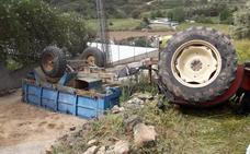 Muere un hombre en el vuelco de un tractor en Berzocana