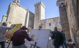 Manuel Molano López, ganador del concurso de pintura rápida del Ejército en Cáceres