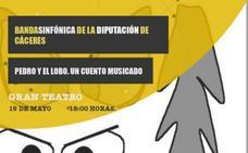 Concierto en familia a cargo de la banda sinfónica de la Diputación de Cáceres