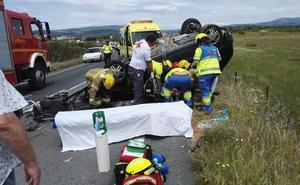 Tres heridos, uno de ellos grave, en un choque cerca de Jaraíz