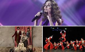 Ana Belén pone en Mérida la banda sonora al fin de semana de los acróbatas, los cosacos y la preferia de Cáceres
