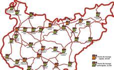 Dónde estarán los puntos de recarga de vehículos eléctricos de la Diputación de Badajoz