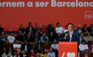 Sánchez reclama una Barcelona «no sometida» al 'procés' para consolidar la victoria del 26-M