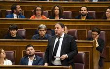 La Mesa suspende a los diputados presos con el voto en contra de Podemos