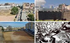 Cuatro asociaciones proponen que se reconstruya la muralla junto al Palacio de Congresos de Badajoz