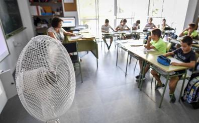El calor llega otra vez a las aulas extremeñas